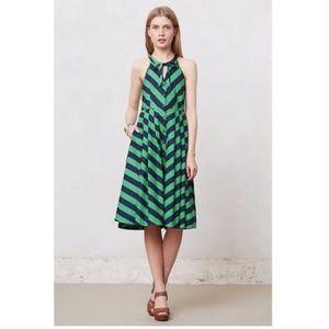 Anthroplogie Girls from Savoy Emerald Ripple Dress